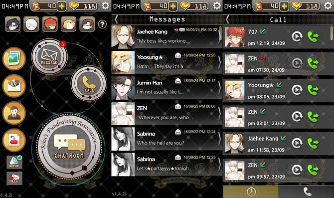 mystic messenger gameplay