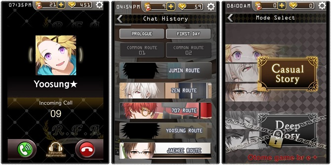 mystic messenger interface